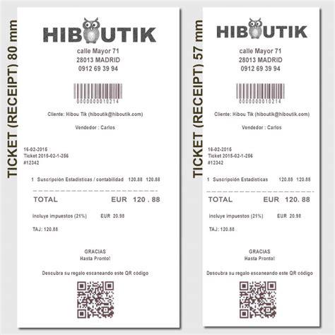 ejemplo de ticket de compra recibo cabecera y pie de ticket hiboutik software tpv