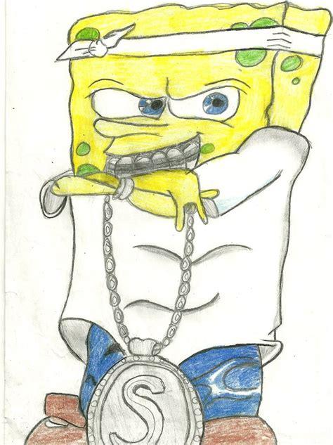 spongebob basketball coloring pages gangster spongebob wallpapers wallpapersafari