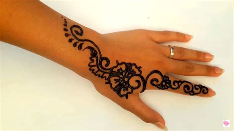 simple henna mehndi art jasa hena indo youtube