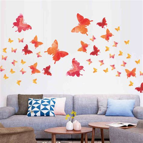 buy wall stickers aliexpresscom buy colorful flying butterfly wall stickers for myuala