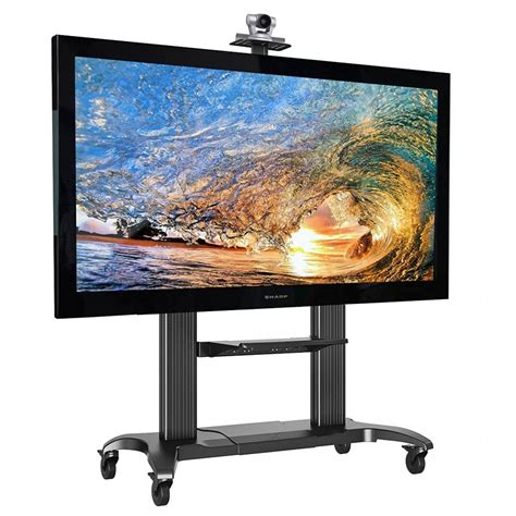 flat mobile tv racks astonishing mobile flat panel tv cart high
