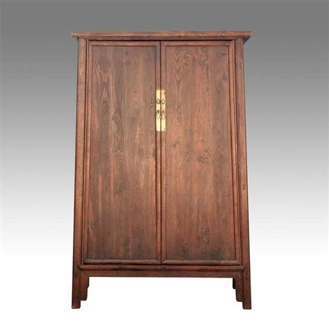 fine antique chinese shanxi elm wood cabinet wardrobe