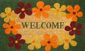 Floral Welcome Mat Flowers And Floral Welcome Mats From Geo Crafts Inc