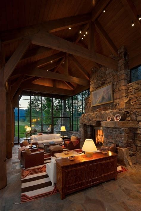 Rustic Interior Design World Of Architecture 30 Rustic Chalet Interior Design Ideas