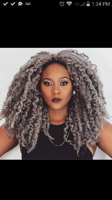 marley twist hair gray beautiful grey and marley hair on pinterest