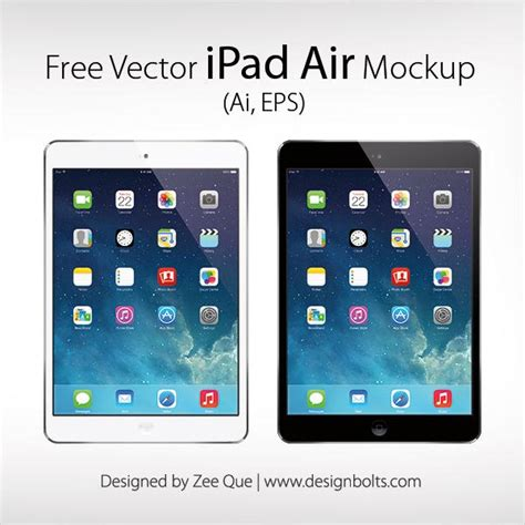 format video on ipad free vector apple ipad air mockup in ai eps format