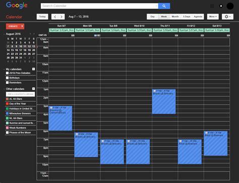 themes google calendar google calendar dark theme freestyler ws