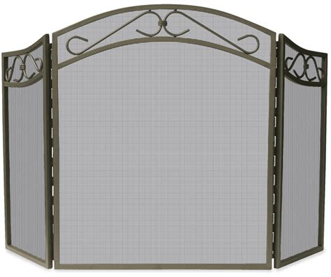 Wrought Iron Fireplace Screens Decorative by Uniflame 3 Fold Arched Bronze Wrought Iron Fireplace
