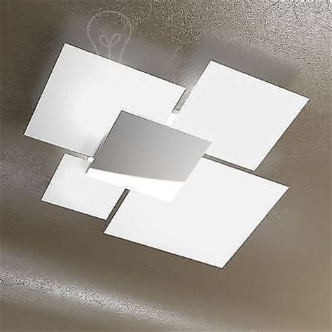 plafoniere a soffitto moderne lada soffitto plafoniera led 4 vetri bianchi e