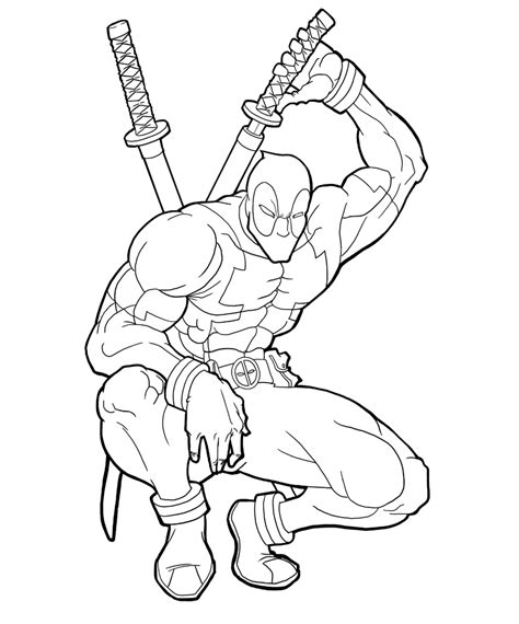 deadpool superhero coloring pages deadpool para colorear pintar e imprimir