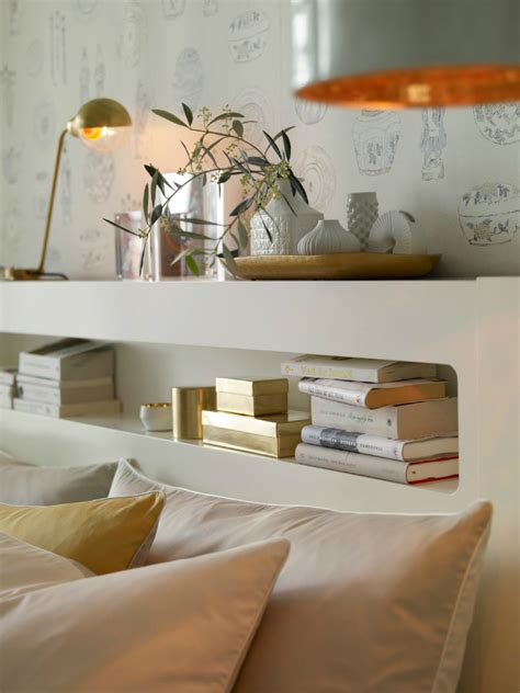 smart and bedroom decorated with white and gold