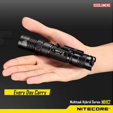 Nitecore Mh12 Senter Led Cree Xm L2 U2 1000 Lumens Nrfl21bk nitecore mh12 cree xm l2 u2 1000lm usb charge tactical led