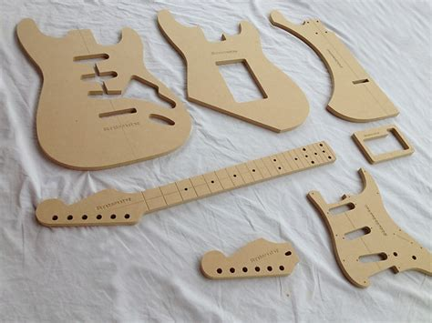 guitar templates for sale strat guitar router template set 1 2 quot mdf cnc reverb