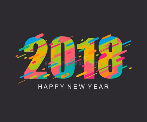 modern new year vector design modern bright happy new year 2018 design card stock