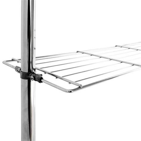 Telescopic Bathroom Shelves Bathroom Telescopic Rail Storage Shelf Caddy Shelving Rack Unit Chrome Organiser Ebay