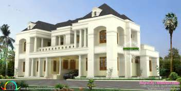 luxury colonial house plans luxury colonial style indian home design kerala home