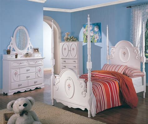 twin white wooden poster bed girls bedroom furniture  pc set ebay