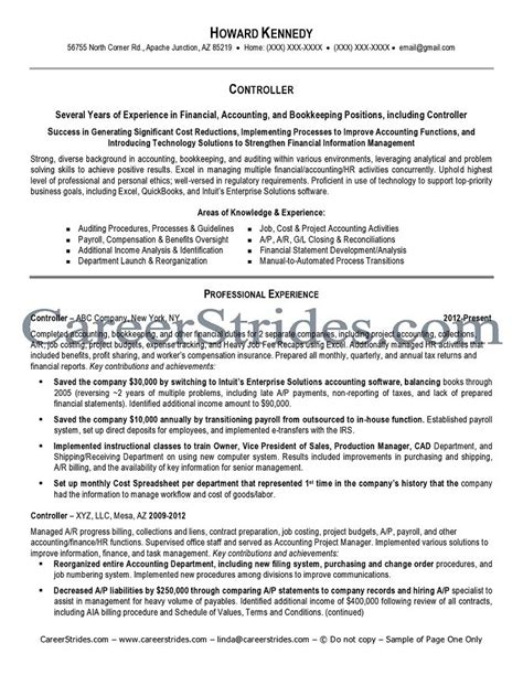 controller resume exle controller resume sle exle
