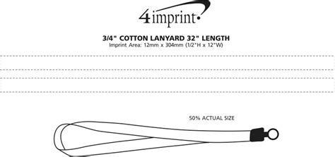 4imprint Ca Cotton Lanyard 3 4 Quot 32 Quot C108131 Imprinted With Your Logo Lanyard Size Template