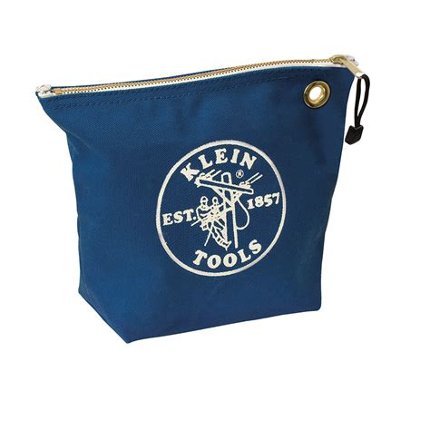 canvas zipper tool bag canvas zipper bag consumables blue 5539blu klein