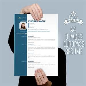european resume template curriculum vitae template europass modern by