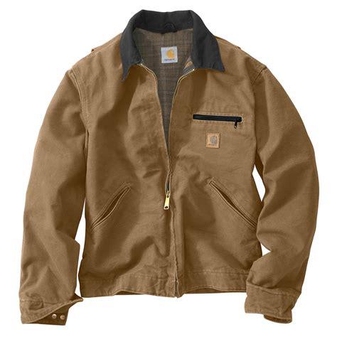 Carhartt Sandstone Detroit Jacket Blanket Lined by Carhartt Sandstone Duck Detroit Jacket Blanket Lined