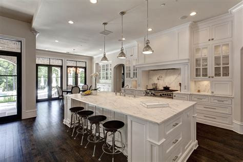 open concept kitchen idea in this white open kitchen concept the home touches