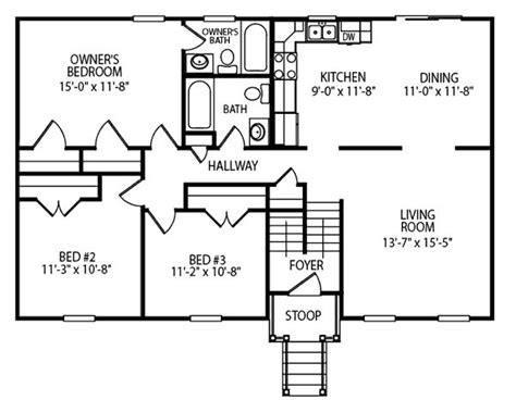 Liberty Floor Plan Upper Level 28 X 44 Shown 28 X 48 House Plans