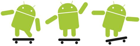 android robot file android robot skateboarding svg wikimedia commons