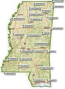 Mississippi State Parks Map by Mississippi Parks Us Parks Online