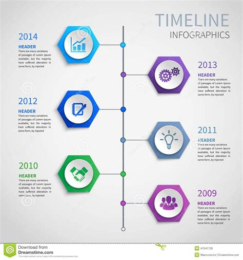 How To Make A 3d Timeline On Paper - paper timeline infographics stock vector image 41041729