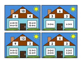 first grade box fact family cards