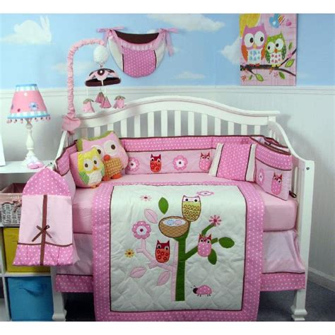 owl baby girl bedding owl nursery bedding theme infobarrel