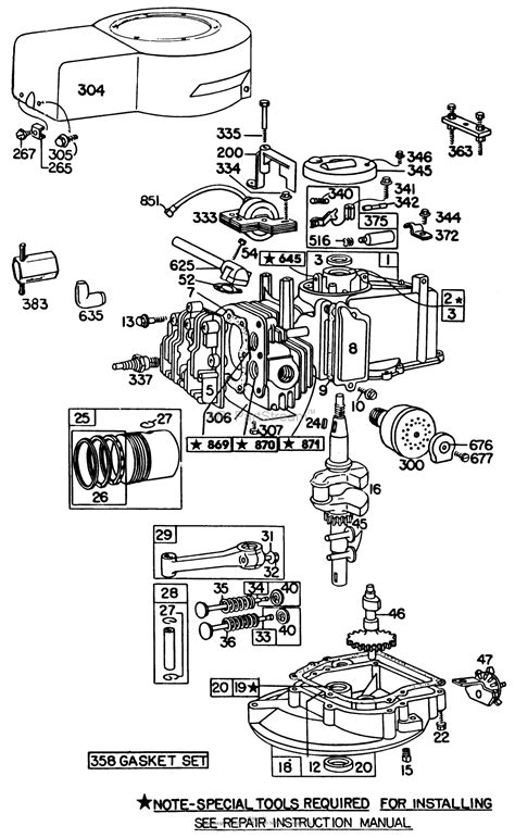 briggs and stratton engine parts diagram toro 20698 lawnmower 1982 sn 2000001 2999999 parts