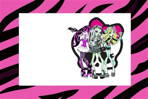printable birthday cards monster high monster high free printable party invitations is it