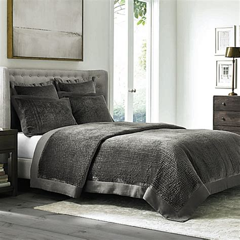 velvet coverlet buy wamsutta 174 collection velvet king coverlet in grey from