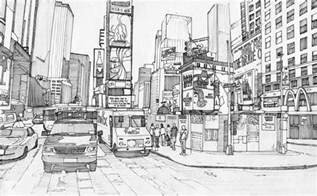 color nyc coloriage adulte new york times square 2