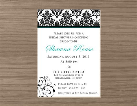 printable wedding evening invitations free printable bridal shower invitations gangcraft net