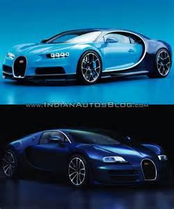 Bugatti Veyron Vs Bugatti Chiron Vs Bugatti Veyron Front Three Quarters