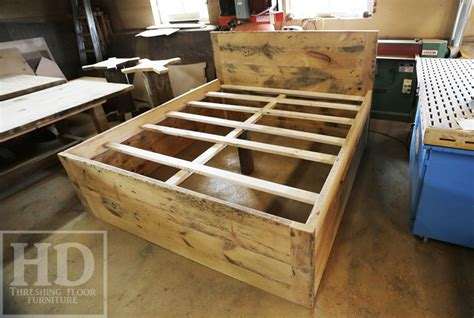 bed frames ontario reclaimed wood beds ontario hd threshing