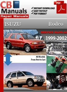 how to download repair manuals 2003 isuzu rodeo electronic valve timing service manuals portal fix your problem at home