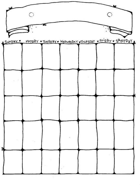 printable blank calendar ideas pinterest