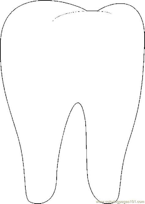 tooth templates free coloring pages tooth 02 peoples gt doctors free