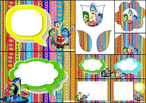 inside out printable party decorations birthday of inside out party free printable invitations