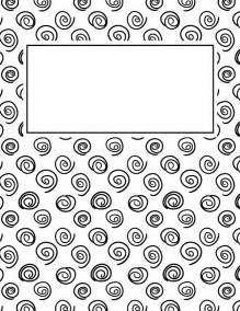 black and white binder cover templates printable black and white spiral binder cover