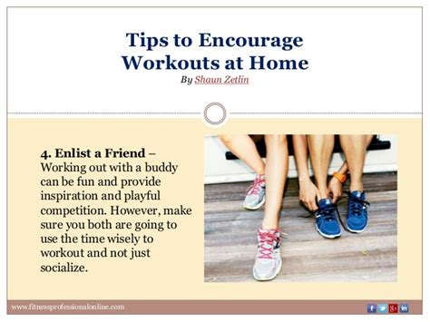 tips to encourage workouts at homepptx