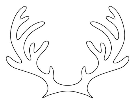 reindeer antlers template printable reindeer antlers pattern use the pattern for