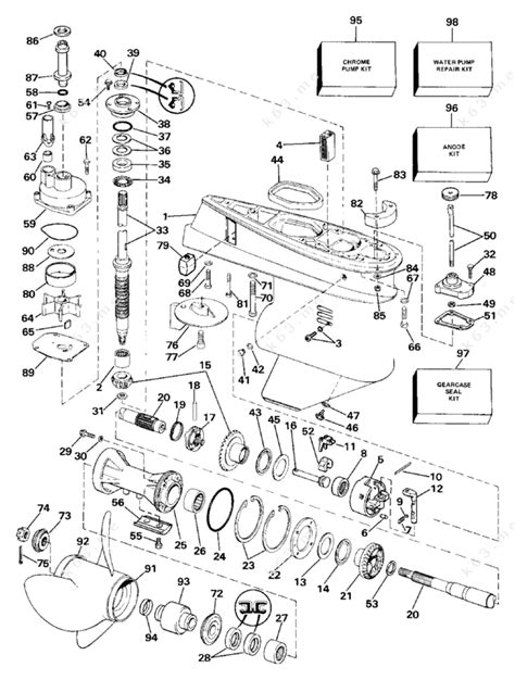 65 hp mercury outboard diagram wiring diagram and fuse box