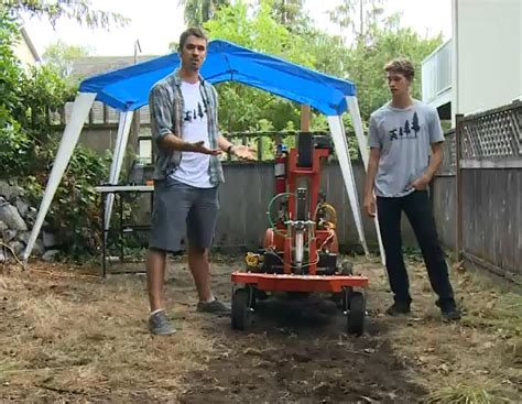 Automatic Tree Planter two of students develop tree planting