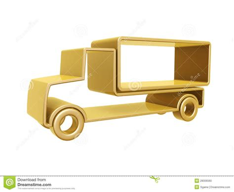 golden trucks golden truck curve royalty free stock photo